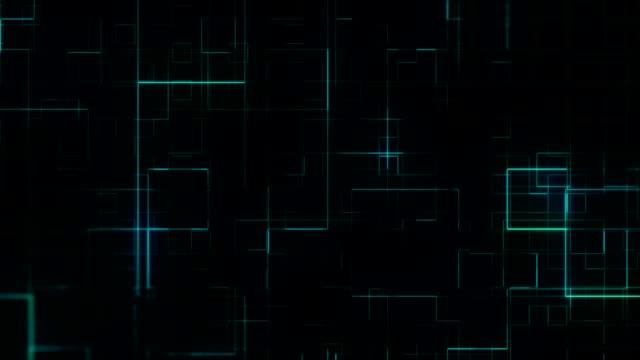 abstrakter techno-hintergrund - quadratisch komposition stock-videos und b-roll-filmmaterial