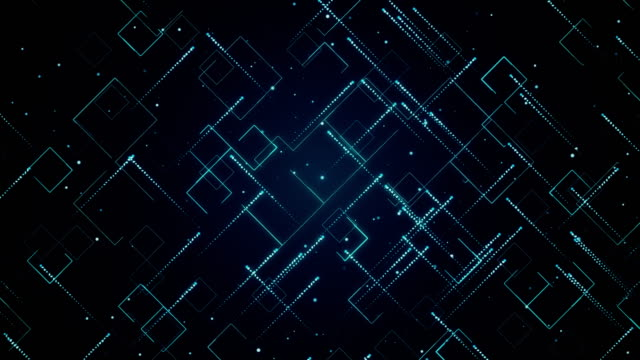 Abstract technologic background with stripes and particles. Animation of seamless loop. Abstract technologic background with stripes and particles. Animation of seamless loop. exchanging stock videos & royalty-free footage
