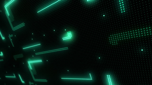 Abstract technology background of led screen particles. Circuit light animation. (Loopable)
