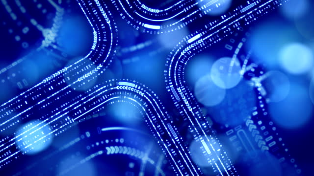 abstract technology blue background loop video