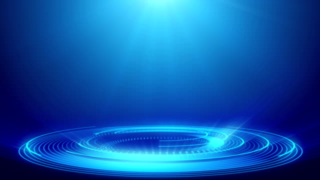 abstract technology blue spotlight backgrounds - loopable elements - 4k resolution - riflettore lenticolare video stock e b–roll