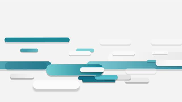 abstrakte technologie überlappt diagonal geometrische form, die blaue farbe auf weißem hintergrund - flat design videos stock-videos und b-roll-filmmaterial