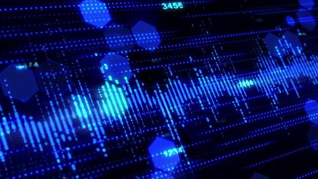 abstract technology futuristic background - filo metallico video stock e b–roll