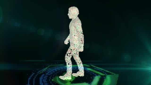 Abstract technology interface hologram elements of digital data communication on hi tech