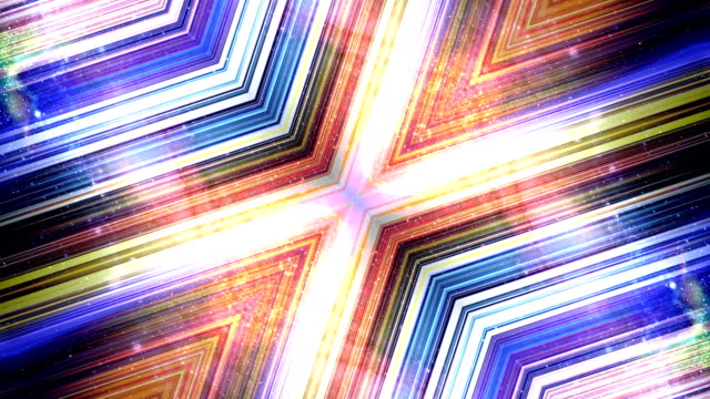 Abstract Technology Kaleidoscope Animation, Rendering, Background, Fiber Stripes, Loop video