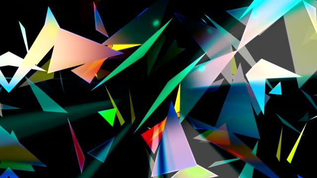 Abstract technology loopable background with triangles video