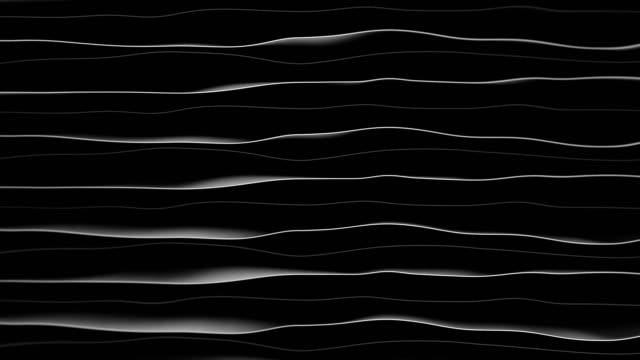 vídeos de stock, filmes e b-roll de animação temática da tecnologia abstrata com ondas ondulantes. - organic shapes