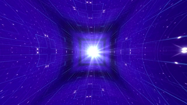 Abstract Technology Universe Background, Rendering, Animation, Loop