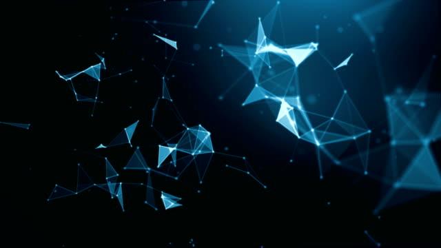 vídeos y material grabado en eventos de stock de fondo de las conexiones de tecnología y ciencia abstracta de 4 k - plexo