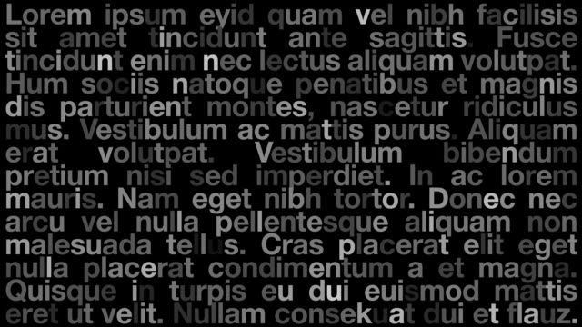 Abstract Text Design (Lorem Ipsum) video