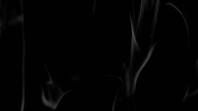 abstract the movement of smoke on black background video