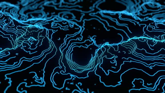 abstrakte topographie höhe karte hintergrund - kartographie stock-videos und b-roll-filmmaterial