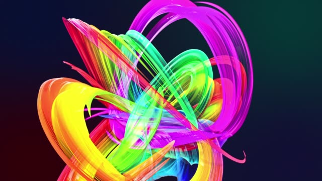 Abstract transparent tapes in motion as seamless creative background. Colorful stripes twist in a circular formation. Looped 3d smooth animation of bright shiny ribbons curled in circle. Multicolored Abstract transparent tapes in motion as seamless creative background. Colorful stripes twist in a circular formation. Looped 3d smooth animation of bright shiny ribbons curled in circle. twisted stock videos & royalty-free footage