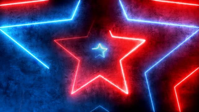 Abstrakte Tunnel-Glasfaserlinie glühende Sterne Hintergrund mit glühenden Linien, VJ, DJ-Leuchten. Virtual-Reality-Star-Show, Fashion Glow Sticks sind Spinn-Loopable – Video
