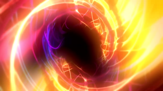 tunnel astratto di linee luminose animazione di sfondo loopable - spirale ricciolo video stock e b–roll