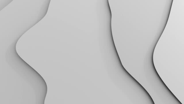 vídeos de stock e filmes b-roll de abstract undulating curves. - cool