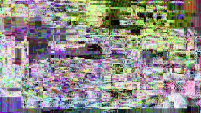 抽象的なビデオ ・ ノイズ。グリッチのテレビ放送 - 木目のビデオ点の映像素材/bロール