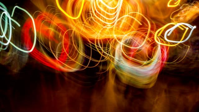 vídeos de stock e filmes b-roll de abstract walking in circle way background - bêbedo