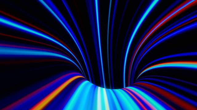 4k abstrakte warp tunnel. - verzerrtes bild stock-videos und b-roll-filmmaterial