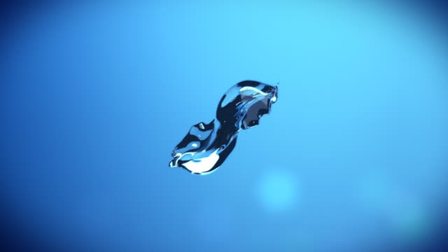 Abstract water splash video