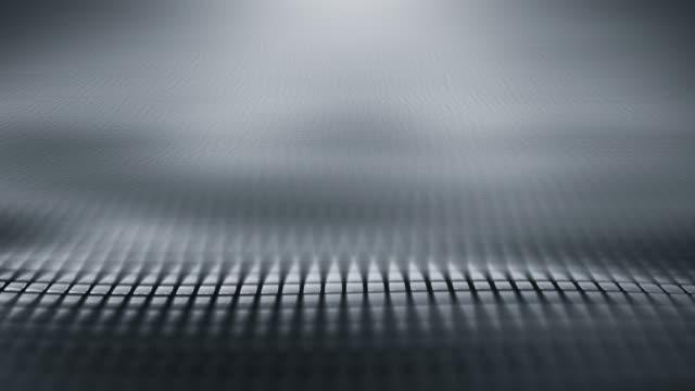 vídeos de stock, filmes e b-roll de fundo abstrato da onda (prata/cinza)-laço - metal