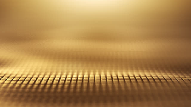 Video Abstract Wave Background (Gold) - Loop