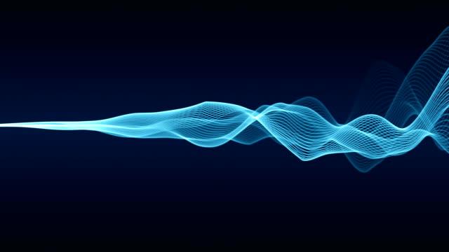 abstrakta våglinjer (loop 4k) - flow bildbanksvideor och videomaterial från bakom kulisserna