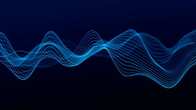 抽象波線(ループ4k) - 曲線点の映像素材/bロール