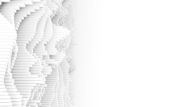 4k abstrakte wellenformen mit textfreiraum. - cool und lässig stock-videos und b-roll-filmmaterial