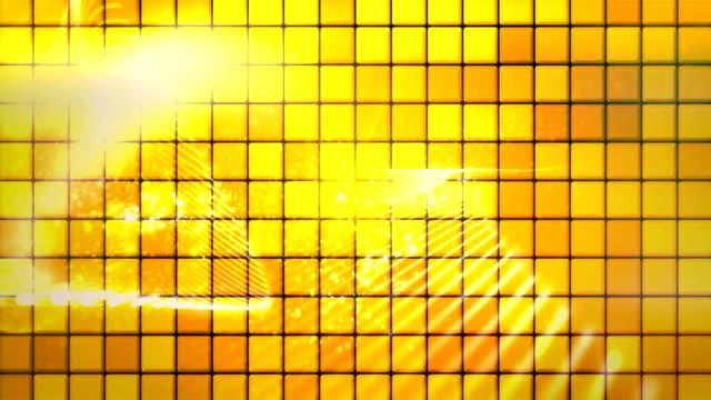 abstrakte wellen von staub und goldenen tieles endlos wiederholbar hintergrund - bling bling stock-videos und b-roll-filmmaterial
