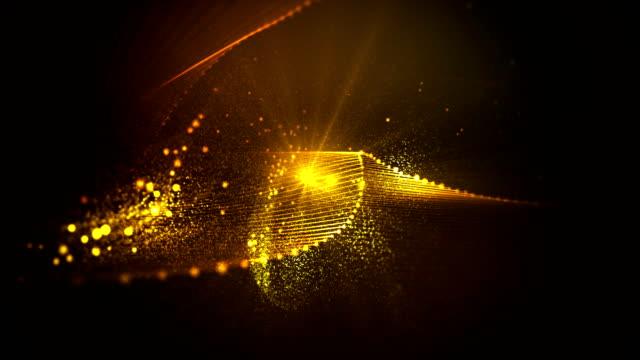 abstrakte wellen von fairy staub endlos wiederholbar hintergrund - bling bling stock-videos und b-roll-filmmaterial