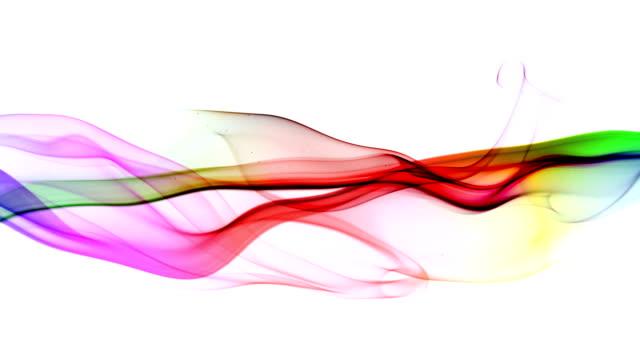 abstrakt viftande animation bakgrund, rök flyter - färgbild bildbanksvideor och videomaterial från bakom kulisserna