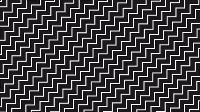 vídeos de stock, filmes e b-roll de linha ondulada abstrata de fundo simples. padrão de movimento da linha preta e branca. animação em loop de textura em ziguezague - padrão repetido