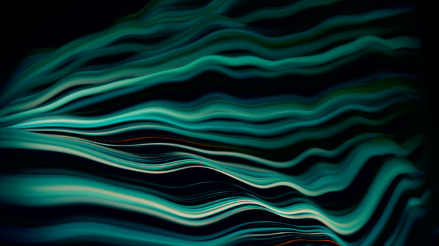 Abstract Wavy Lines, Internet Flow, Big Data, Connections Data, Wave Pattern, Graph, Big Data, Connect wave pattern stock videos & royalty-free footage