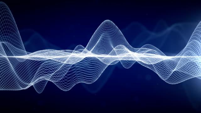 抽象的な波線 - 音波点の映像素材/bロール