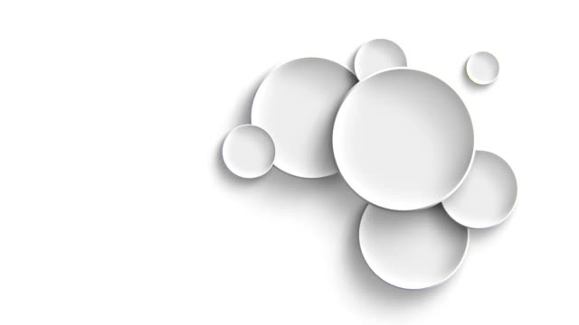 Abstract white circle solids pattern animation video