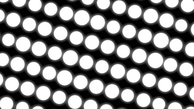 Abstract white circles background. White elements video