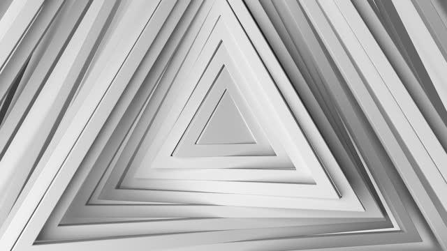 vídeos de stock, filmes e b-roll de círculos brancos abstratos acenando, padrão de círculos com o efeito do deslocamento. - padrão repetido