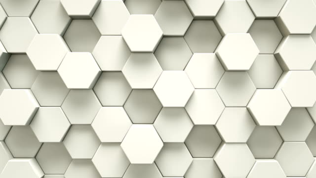 Abstract white hexagon geometric surface | Loopable