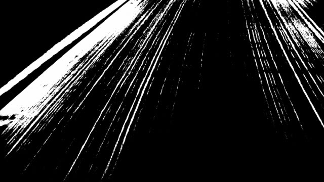 Abstract white lines over black video