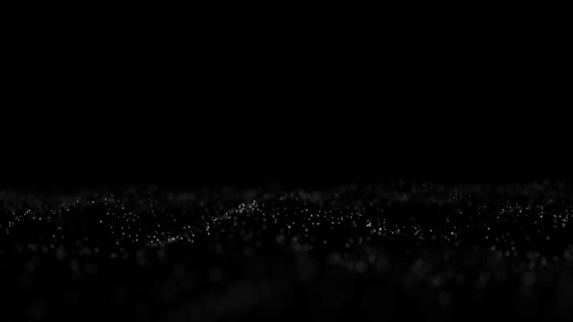 abstract white particles motion on black background - 7 star stock videos and b-roll footage