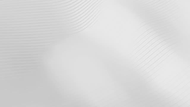 vídeos y material grabado en eventos de stock de blanco abstracto rebanando fondo ondulado. concepto de minimalismo. representación de ilustraciones 3d. vídeo gráfico de movimiento 4k - gris