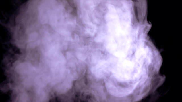 Abstract white water vapor on black background video