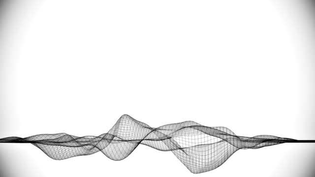 abstract wireframe / lines. - frequenza video stock e b–roll