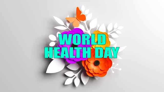 Abstract World Health Day Concept With Flowers World Health Day, Abstract, Background world health day stock videos & royalty-free footage