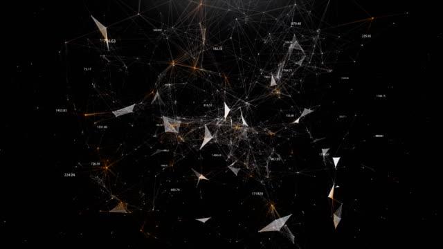 vídeos y material grabado en eventos de stock de mundo abstracto de las nanotecnologías en forma de plexo - constelación