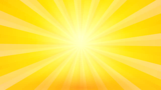 abstract yellow background with rays and pulsating circle video