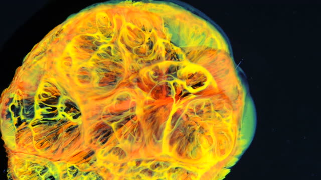 Abstract Yellow Fire Ball video