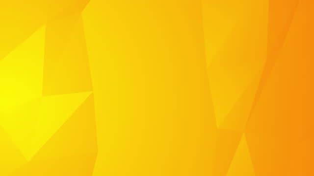 vídeos de stock, filmes e b-roll de fundo laranja amarelo abstrato com formas poligonais 3d. linha geométrica suave em movimento aleatório - amarelo