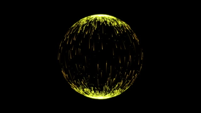 Abstract Yellow Spherical Backgrounds video
